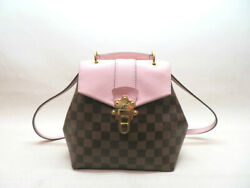 Louis Vuitton Clapton Bags Damier N42262 Magnolia Backpack Day Pack No.9206