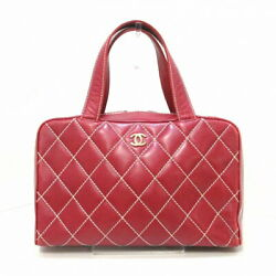 Wild Stitch Handbag Women And039s Gold Fittings Razor Red Previously No.150