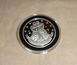 Cookie Monster 20th Anniversary Sesame Street 1 Oz Silver Round Coin 1989