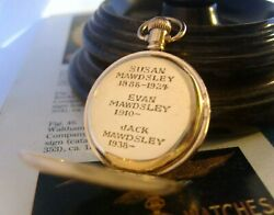 Antique Waltham Pocket Fob Watch 1909 Ladies 7 Jewel 9ct Gold Filled Case Fwo