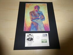 John F. Kennedy Jfk Psychedelic Pop Art Photograph And Usa Fdc Mounted And Framed