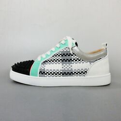 Auth Christian Louboutin Lewis Junior Spike Auto Mens Sneakers42us 9