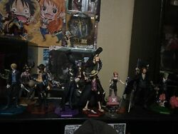 P.o.p Strong World Edition Strawhat Crew With Shanks And Ace. Fig Only No Box.