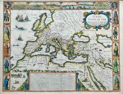 1626 A New Mappe Of The Romane Empire Roman John Speed Map George Humble