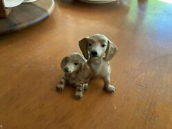 Zsolnay Pecs Porcelain Dachshound Figurine C. 1920's Made In Hungary