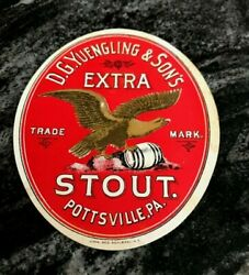 Pre-pro D. G. Yuengling And Sons Brewing Co Stout Beer Bottle Label Pottsville Pa