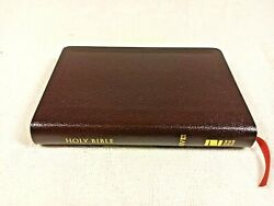 New 2011 Niv Thinline Compact Bible Burgundy Bonded Leather Red Letter Ed  J