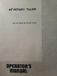 Simplicity Powermax Tractor 48 Tiller Implement 1600199 Owner And Parts 2 Manuals