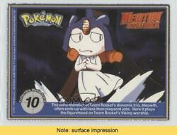 1999 Pokemon The First Movie - Collectible Scene Magazine Cards 10 Read 04fg