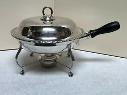 Vintage Oande Co English Silver Plated Chafing Dish W/handle And Warmer