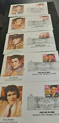 Elvis Presley January 8, 1993 .29 Set Of 5 First Day Of Issue  E2494txx