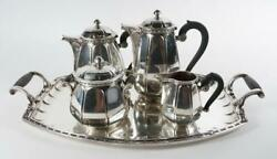 Early 20th Century Gallia Christofle Silverplated Tea Set With Tray