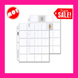 """Coin Collecting Protector Supplies Plastic Sheets Sleeves Album Binder 2""""x2"""""""