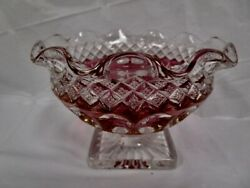 Fantastic Colorful Ruby Red To Clear Westmoreland Desert / Fruit Dish