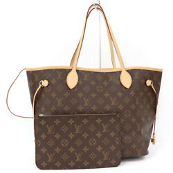 Louis Vuitton Neverfulle Mm Tote Bag Monogram With Pouch M40995 No.6210