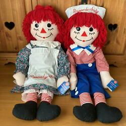 Raggedy Ann And Andy Big Pair Doll American Country From Japan Fedex No.1929