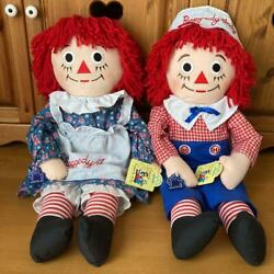Raggedy Ann And Andy Big Pair Plush Toy Doll American From Japan Fedex No.1930
