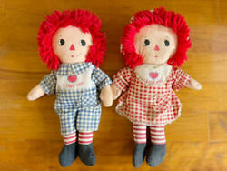Raggedy Ann And Andy Ragadi Bedtime Antique Doll From Japan Fedex No.2097