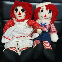Raggedy Ann And Andy Doll Antique From Japan Fedex No.2005