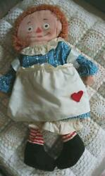 Raggedy Ann And Andy Knickerbockers Marionette Anne Doll Vintage Fedex No.2102