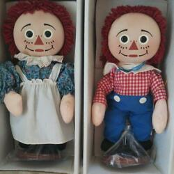 Raggedy Ann And Andy Pancake Face Pair Doll From Japan Fedex No.2040