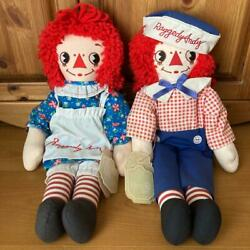 Raggedy Ann And Andy Rare Askance Pair American Country Doll No.2162