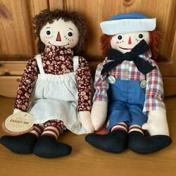 Raggedy Ann And Andy Rare Bolland Limit Reprint Doll Pair From Japan Fedex No.2166