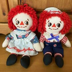 Raggedy Ann And Andy Rare Askance Pair Doll American Country No.2179