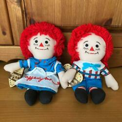 Raggedy Ann And Andy Rare Pair Doll Plush Toy America From Japan Fedex No.2208