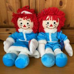 Raggedy Ann And Andy Rare Pair Plush Toy Doll America From Japan Fedex No.2212