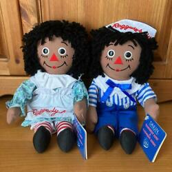 Raggedy Ann And Andy Rare Tagged Ethnic Doll Plush Toy From Japan Fedex No.2230