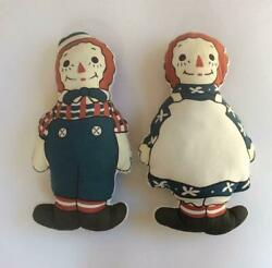 Raggedy Ann And Andy Used Raidedy Made By Usa Doll From Japan Fedex No.2241