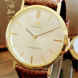 Omega 14 Gold Solid And Co. Wristwatch From Japan Fedex No.2708