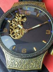 Omega 1901and039s Back Skeleton Mens Hand-wound Watches Free Shipping No.2188