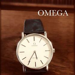 Omega 17 Cm Leather Wristwatch For Men And Women Year Free Shipping No.2187