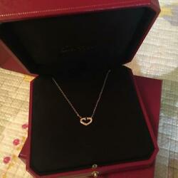 Heartful Diamond Necklace Gold From Japan No.5241