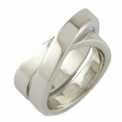 K18wg Ring Paris 49 No.9 Silver Women And039s Fashionable Pitiable No.5490