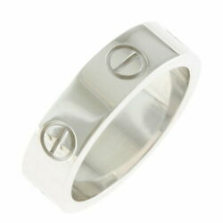K18wg Ring Love 54 13.5 Silver Women And039s Fashionable Pitiable No.5483