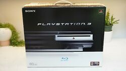 Sony Playstation 3 Ps3 Launch 60gb Console Backwards Compatible Cecha01 Box More