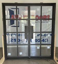 Double Front Entry Iron French Door 72x81 Clear Glass Modern French Design