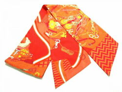 Hermes Scarf Maxitzyly Orange Red Multi Bouquets Sellier Previously No.439
