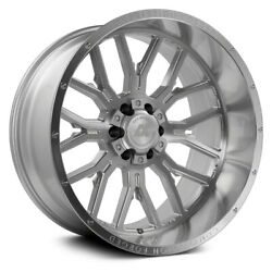 Axe Ax6.1 Compression Forged Wheels 22x12 -44 8x165.1 Silver Rims Set Of 4