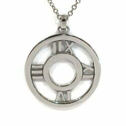 And Co. Glory Necklace Atlas Medallion K18wg 18k White Gold No.1703
