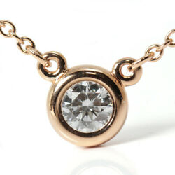 And Co. By The Yard Necklace K18pg Approx. 0.2ct Elsa Peretti No.4045