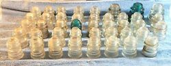 Awesome Collection Of 42 Glass Insulators Hemingray, Armstrong And More