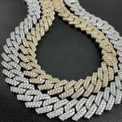Beautiful 925 Sterling Silver Miame Moissanite Cuban Chain 24 Inch