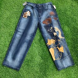 Lot 29 Denim Jeans Looney Tunes Sylvester The Cat Size 36 Nwt