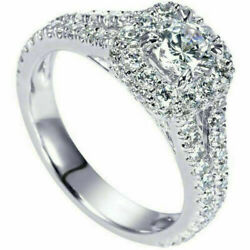 Coupe Ronde 1.60 Ct Fianandccedilailles Diamant Bague Solitaire 14k Or Blanc Size 6 7 8
