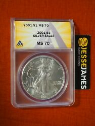 2001 1 American Silver Eagle Anacs Ms70 Better Date