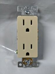 30 Pc Decorator Duplex Receptacle 15 Amp Ivory 15a Decora Outlet Self Grounding